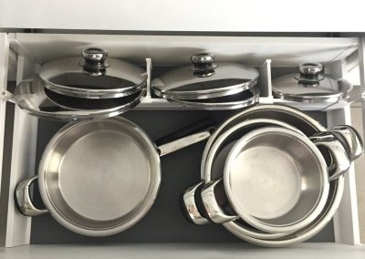 Pots and lids organisation